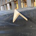 Уголок деревянный гладкий 50x50х3м